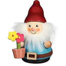Teeter Man Dwarf with Flower Pot  -  8cm / 3.1 inch
