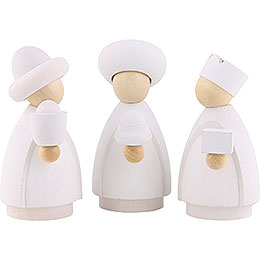 The Three Wise Men  -  Modern White/Natural  -  8,5x3,5x8cm / 3.3x1.4x3.1 inch