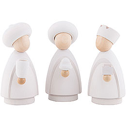 The Three Wise Men  -  Modern White/Natural  -  Large  -  10cm / 3.9 inch