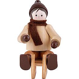 Thiel Figurine  -  Bobsleigh Rider  -  natural  -  5,5cm / 2.2 inch