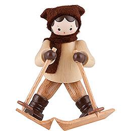 Thiel Figurine  -  Downhill Skier Lady  -  natural  -  6,5cm / 2.6 inch