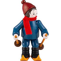 Thiel Figurine  -  Downhill Skier  -  coloured  -  6,5cm / 2.6 inch