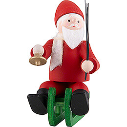 Thiel Figurine  -  Santa Claus on Sledge  -  coloured  -  6cm / 2.4 inch