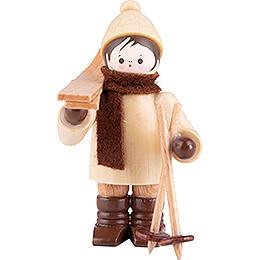 Thiel Figurine  -  Ski Carrier horizontal  -  natural  -  5,5cm / 2.2 inch