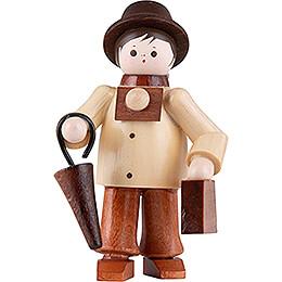 Thiel Figurine  -  Tourist with Suitcase  -  natural  -  6cm / 2.4 inch