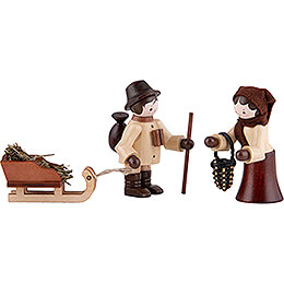 Thiel Figurines  -  Wildlife Feeding  -  natural  -  Set of Three  -  5,5cm / 2.2 inch