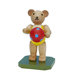 Toy Bear with Ball  -  6,5cm / 3 inch