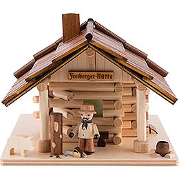 Traditionelles Rauchhaus Freiberger Hütte mit LED  -  12,5cm