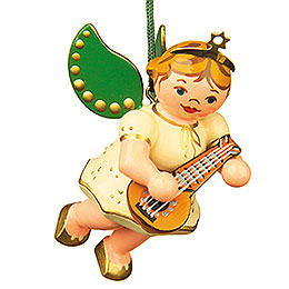 Tree Ornament  -  Angel with Mandolin  -  6cm / 2,5 inch