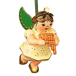 Tree Ornament  -  Angel with Pan Flute  -  6cm / 2,5 inch