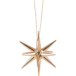 Tree Ornament  -  Christmas Star Gold  -  7cm / 2.8 inch