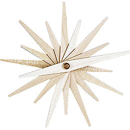 Tree Ornament  -  Folded Star Natural, Set of Three  -  9,5cm / 3.7 inch
