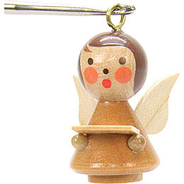 Tree Ornament  -  Mini - Angel Natural Colors  -  1,7x2,5cm / 1x1 inch