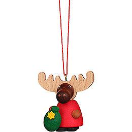 Tree Ornament  -  Moose Santa  -  4,2cm / 1.7 inch