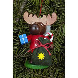 Tree Ornament  -  Moose Santa  -  9,5cm / 4 inch