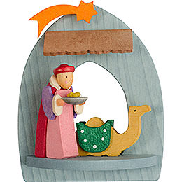 Tree Ornament  -  Nativity with Balthasar, Pickled  -  8,5cm / 3.3 inch
