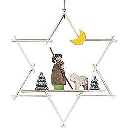 Tree Ornament  -  Shepherd with Sheep  -  9,5cm / 3.7 inch