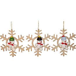 Tree Ornament Snowman, 3 Stück  -  5cm / 2 inch