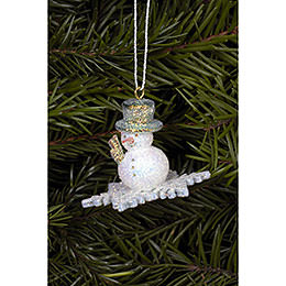 Tree Ornament  -  Snowman  -  4,5x3,5cm / 2x1 inch