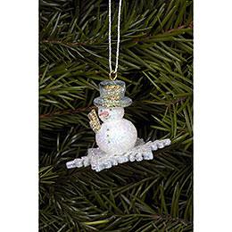 Tree Ornament  -  Snowman  -  4,5x3,5cm / 2x1 inch