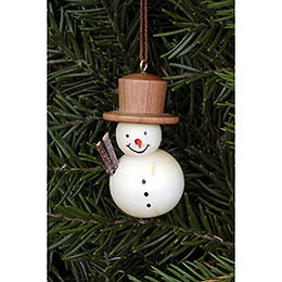 Tree Ornament  -  Snowman Natural  -  2,5x4,6cm / 1.0x1.8 inch