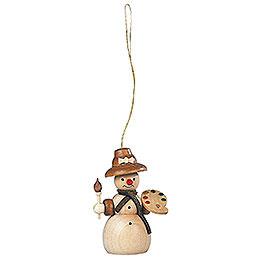 Tree Ornament  -  Snowwoman  -  8cm / 3 inch