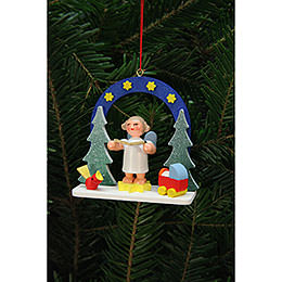 Tree Ornament  -  Starry Ski with Angel  -  7,5x7,1cm / 3x3 inch