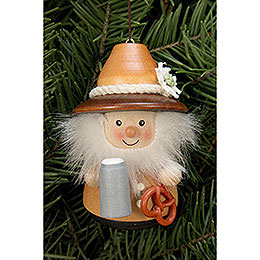 Tree Ornament  -  Teeter Figurine Bavarian Natural  -  8cm / 3.1 inch