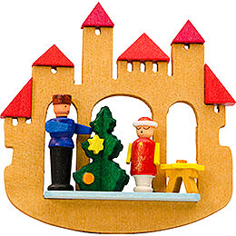 Tree Ornament  -  Town Gate Christmas Tree  -  7cm / 2.8 inch