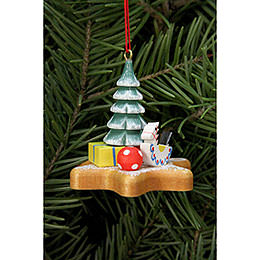 Tree Ornament  -  Toys on Ginger Bread Star  -  5,2x4,8cm / 2x2 inch