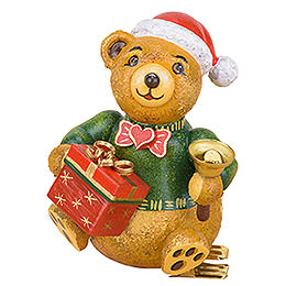 Tree Ornament  -  Tree Clip Christmas Teddy  -  8cm / 3.1 inch
