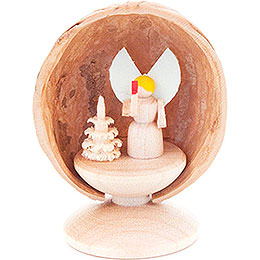 Walnut Shell with Angel  -  5cm / 2 inch