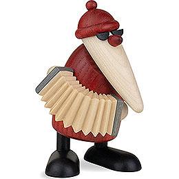 Weihnachtsmann mit Akkordeon  -  9cm
