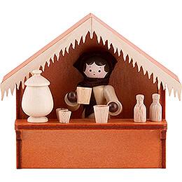 Weihnachtsmarktbude Glühwein mit Thiel - Figur  -  8cm