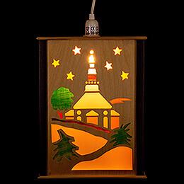 Window Lantern  -  Seiffen Church  -  27cm / 10.6 inch
