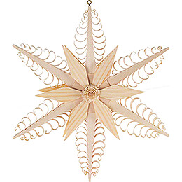 Window Picture  -  Wood Chip Star  -  23cm / 9.1 inch