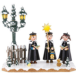 Winter Children Church Singing Group  -  16x14cm / 6x5,5 inch