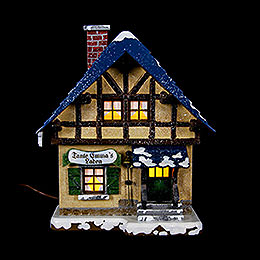 Winter Children Corners Shop Illuminated  -  14cm / 5,5 inch