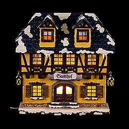Winter Children Inn Illuminated  -  15cm / 6 inch