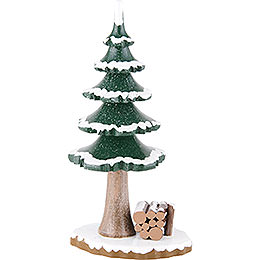 Winter Children Tree with Wood  -  17cm / 7 inch