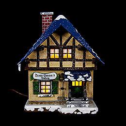 Winterhaus Tante - Emma - Laden beleuchtet  -  14cm