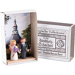 Zündholzschachtel Hochzeit  -  3,8cm