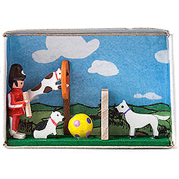 Zündholzschachtel Hundesport  -  4cm