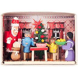 Zündholzschachtel Weihnachten bei uns zu Hause  -  4cm