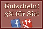 Gutschein! 3% für Sie!